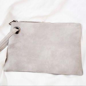 Handbags - Large Dusty Grey Clutch